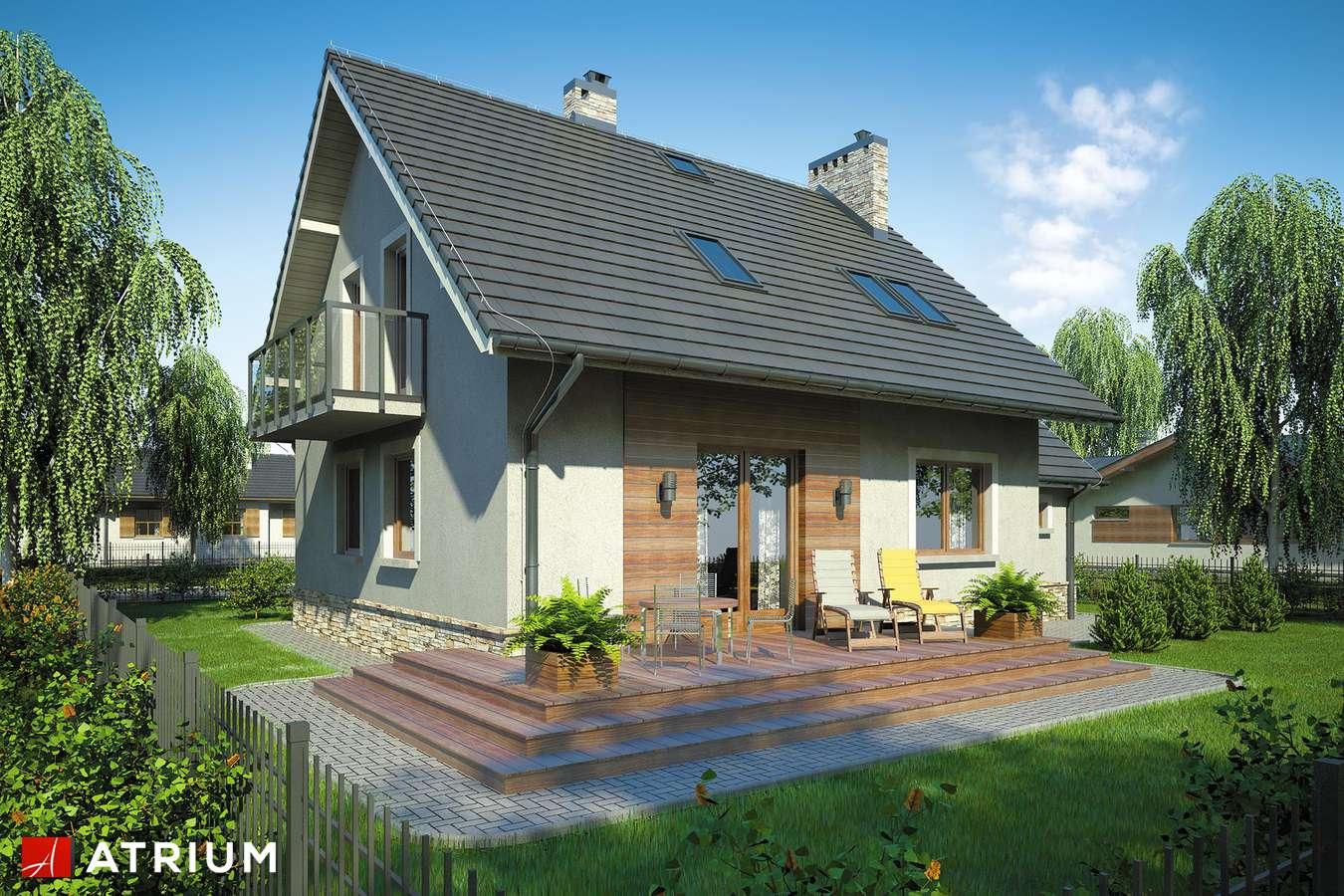 Projekty domów - Projekt domu z poddaszem ROLEKS BIS - wizualizacja 2