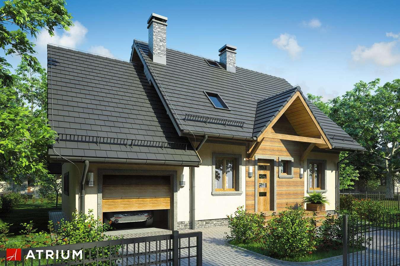 Projekty domów - Projekt domu z poddaszem EWA BIS - wizualizacja 2