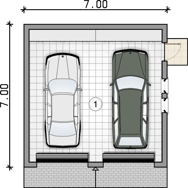 rzut parteru - Garaż Z 31