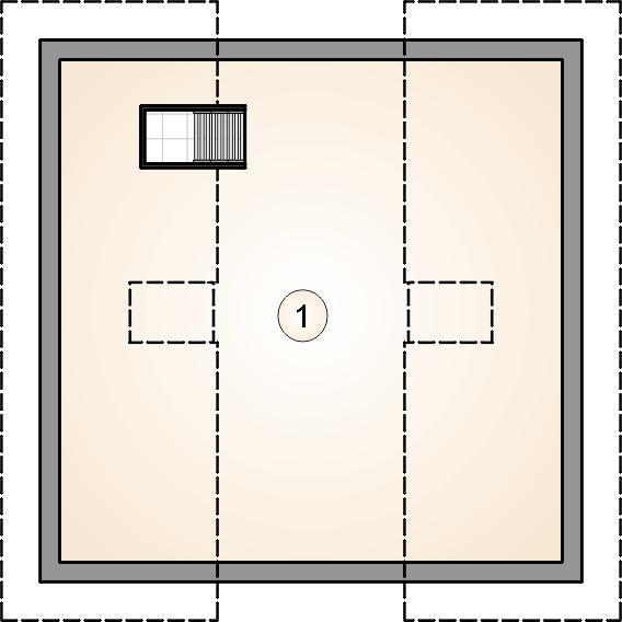 rzut poddasza - Garaż Z 31
