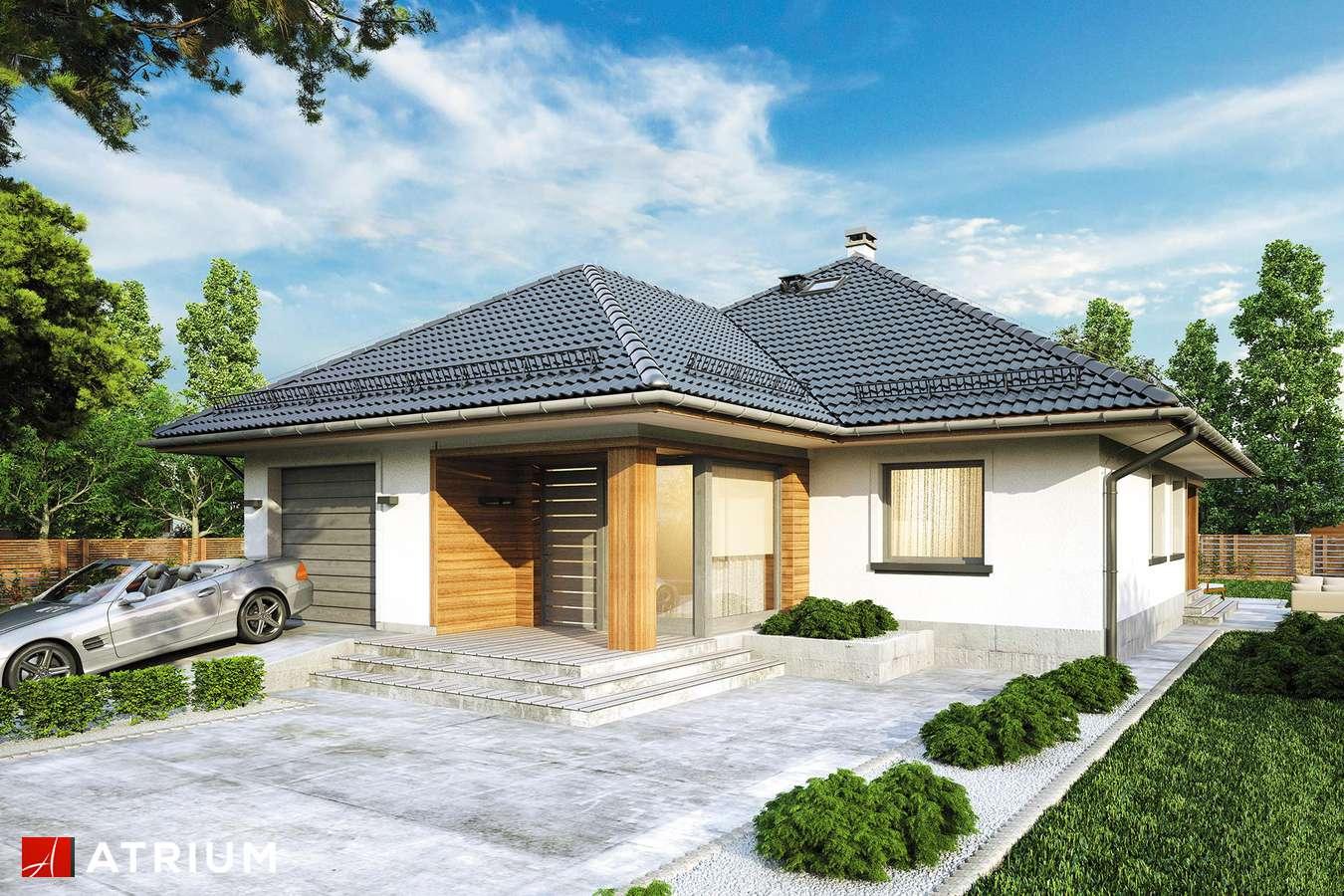 Projekty domów - Projekt domu z poddaszem MODELOWY - wizualizacja 1 - wersja lustrzana