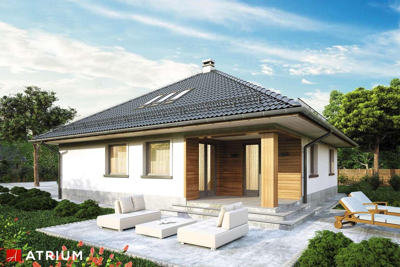 Projekty domów - Projekt domu z poddaszem MODELOWY - wizualizacja 2 - wersja lustrzana