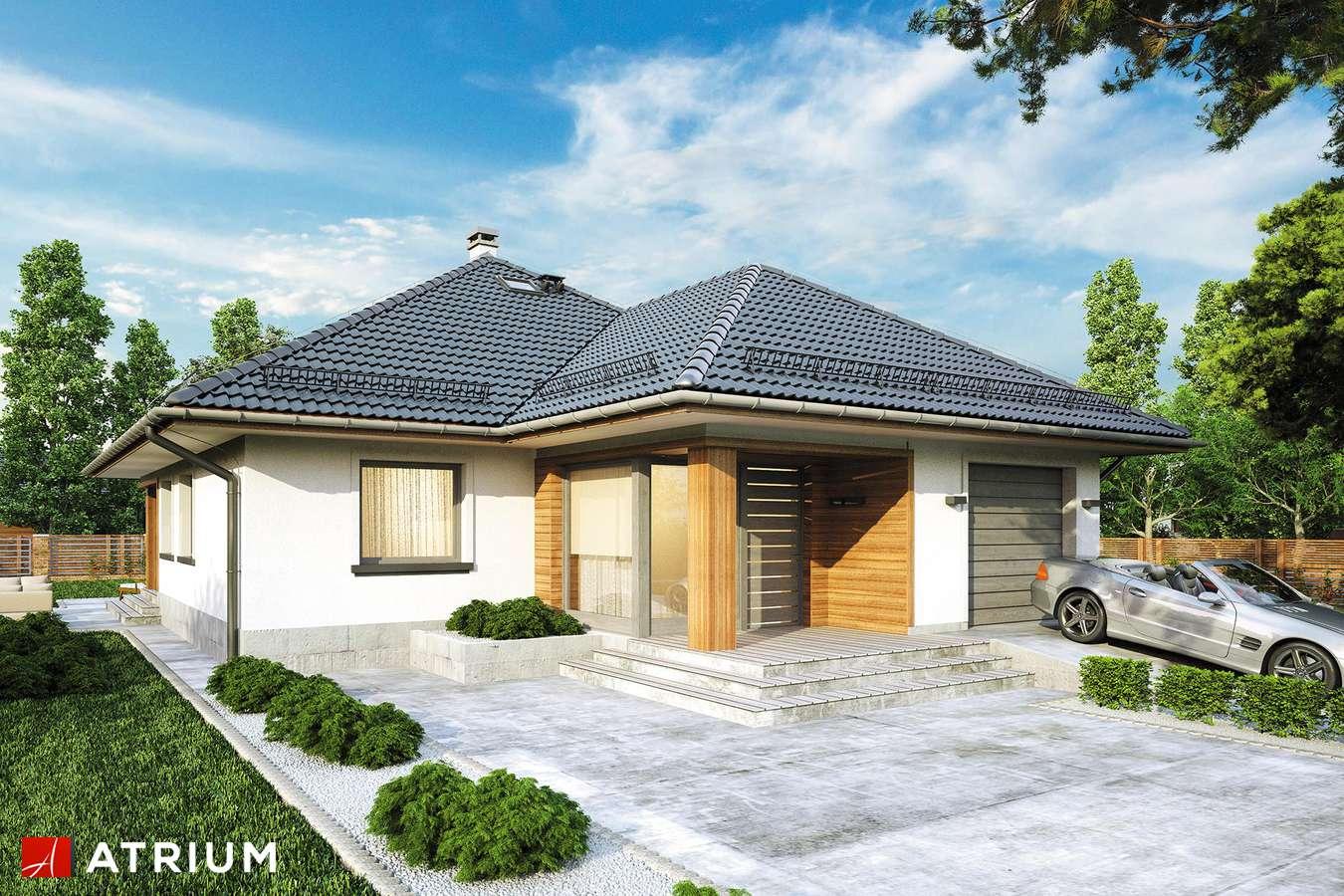 Projekty domów - Projekt domu z poddaszem MODELOWY - wizualizacja 1