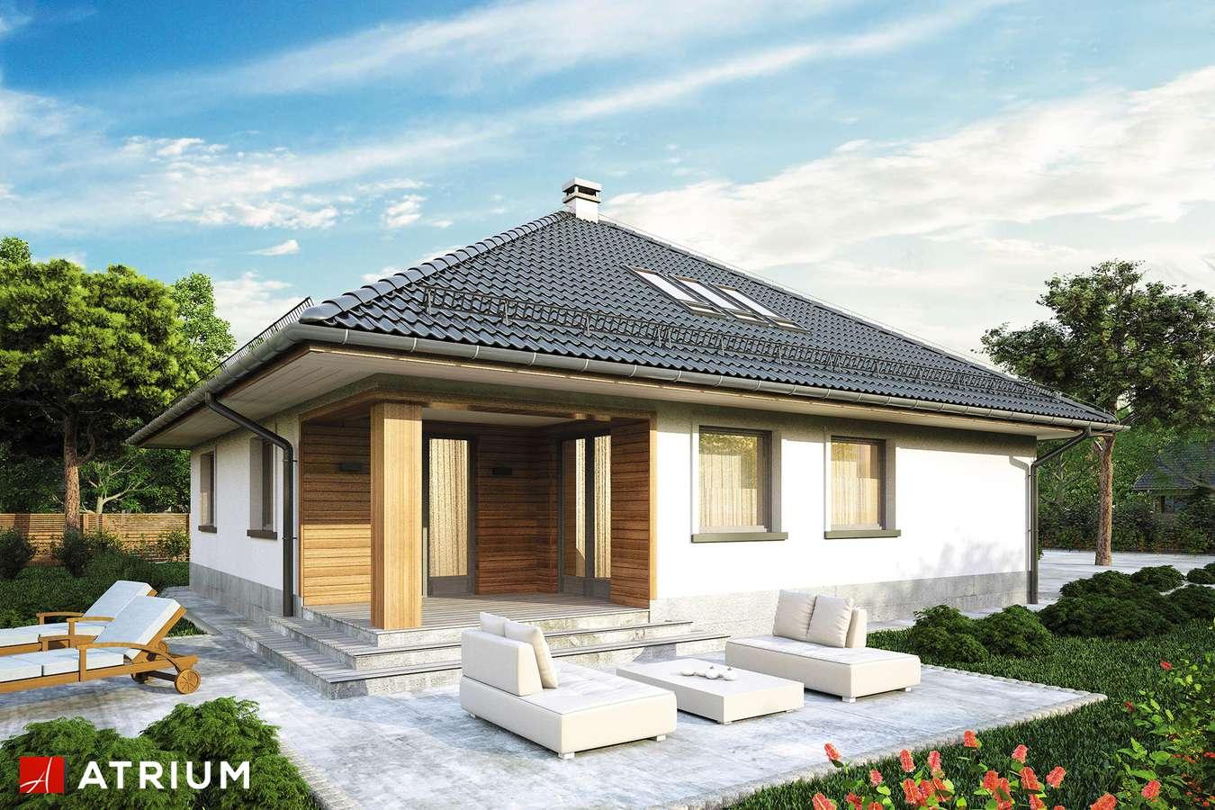 Projekty domów - Projekt domu z poddaszem MODELOWY - wizualizacja 2