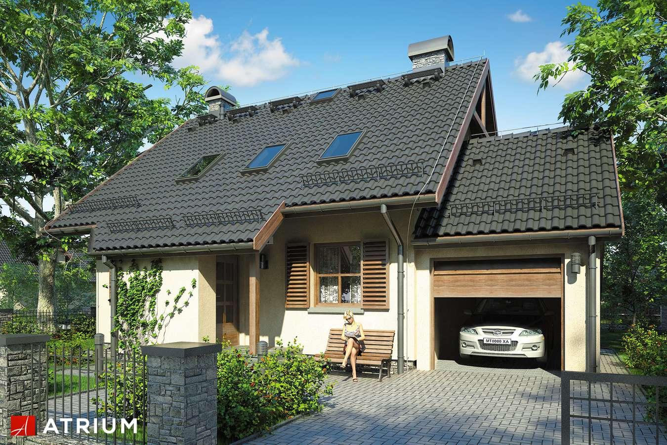Projekty domów - Projekt domu z poddaszem MIKOłAJ - wizualizacja 1 - wersja lustrzana