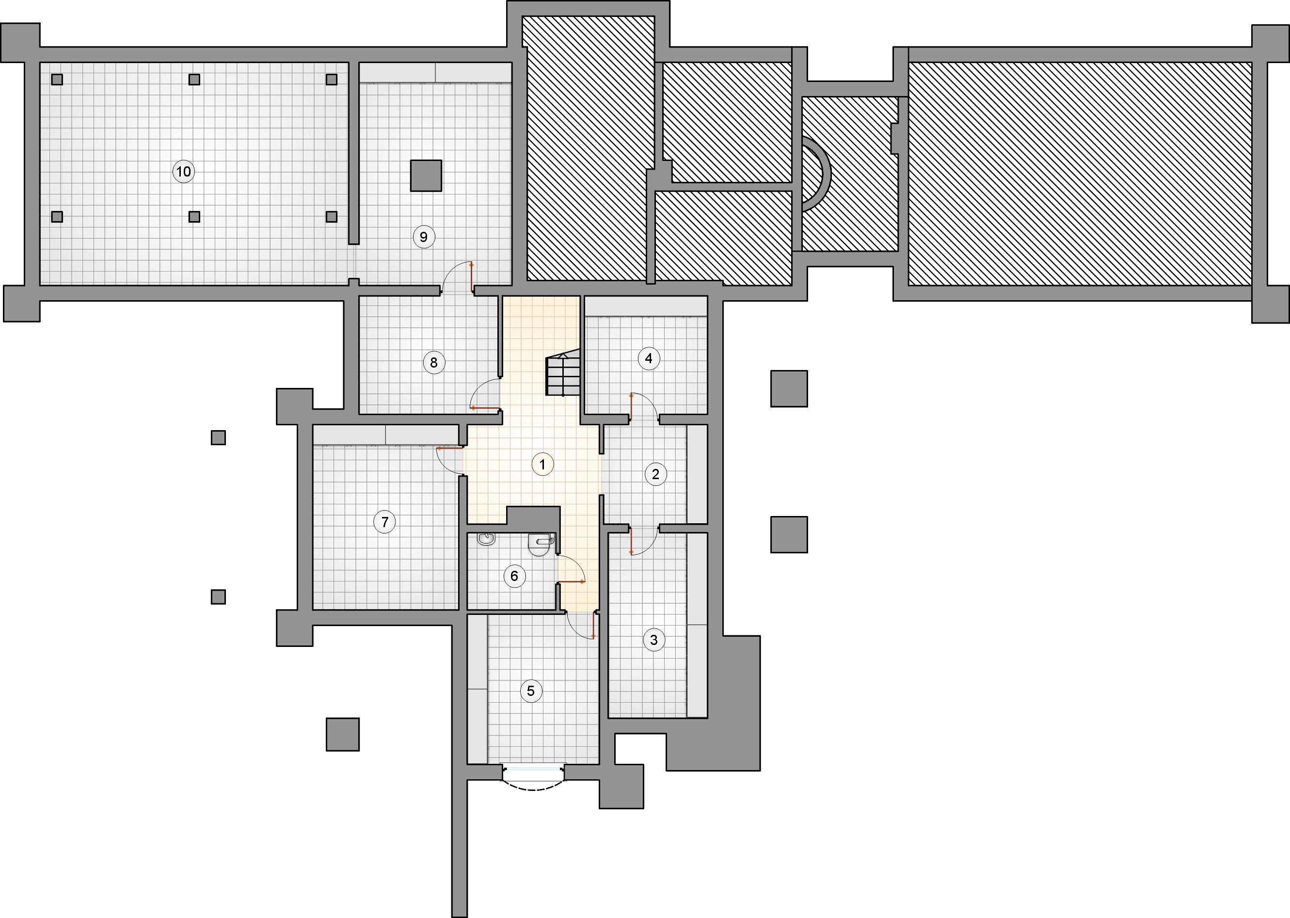 Rzut piwnicy - projekt Willa Panorama