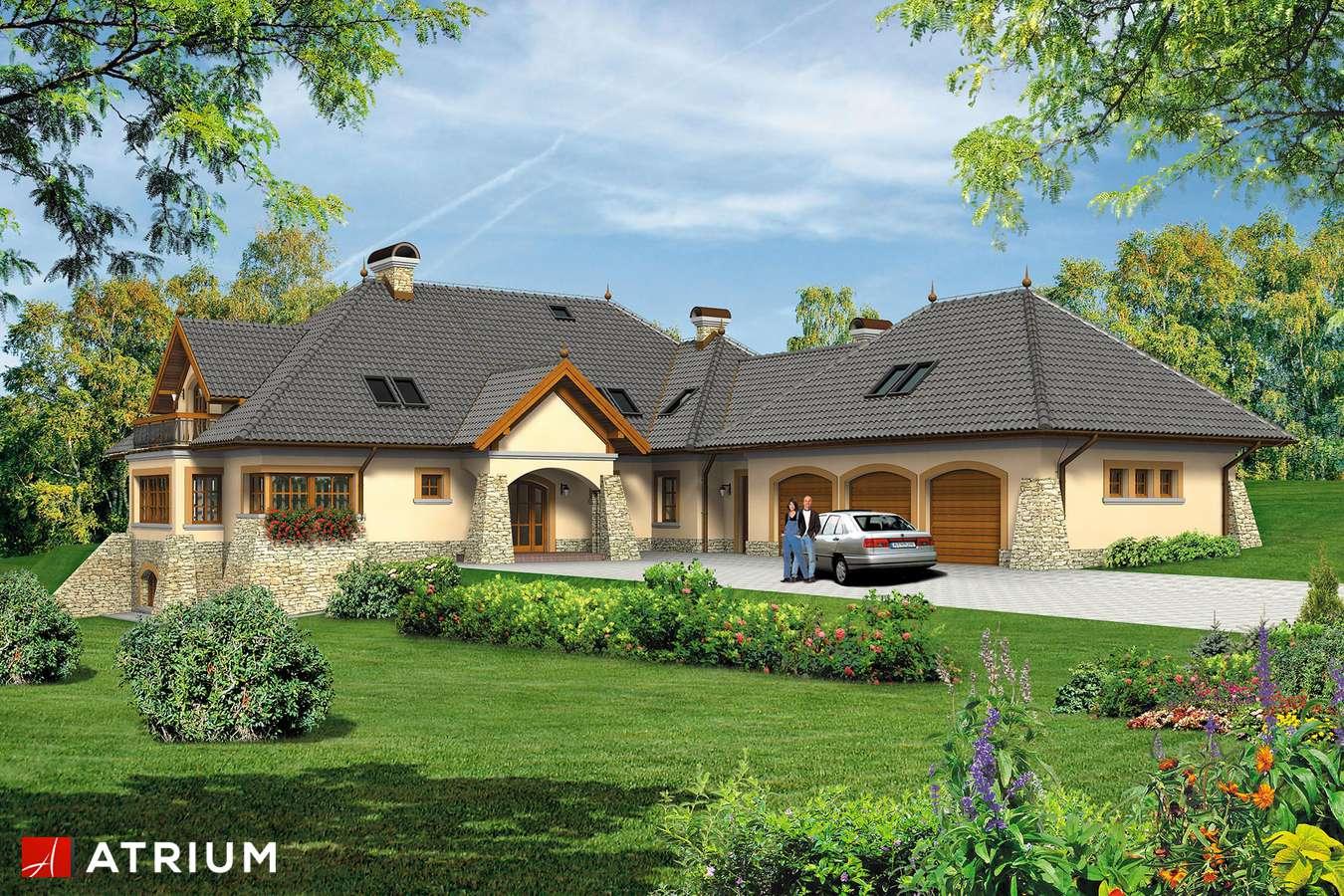 Projekty domów - Projekt domu z poddaszem WILLA PANORAMA - wizualizacja 1