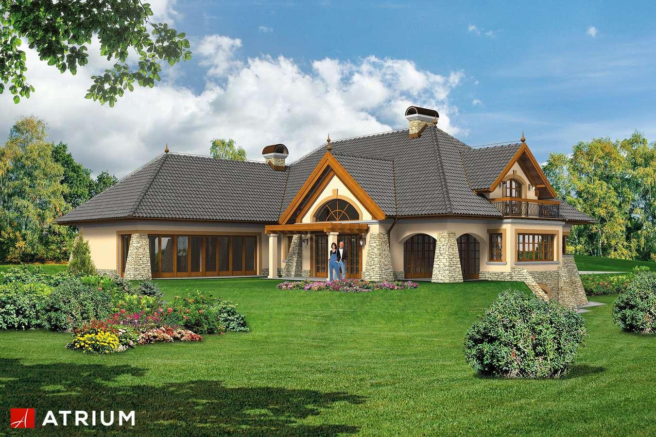 Projekty domów - Projekt domu z poddaszem WILLA PANORAMA - wizualizacja 2
