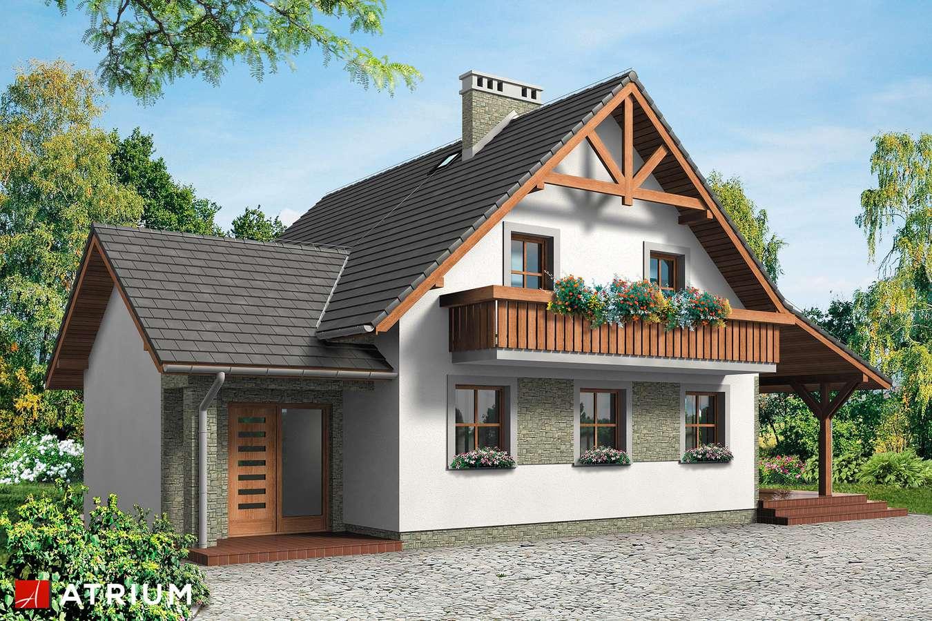 Projekty domów - Projekt domu z poddaszem KRUCZEK - wizualizacja 1
