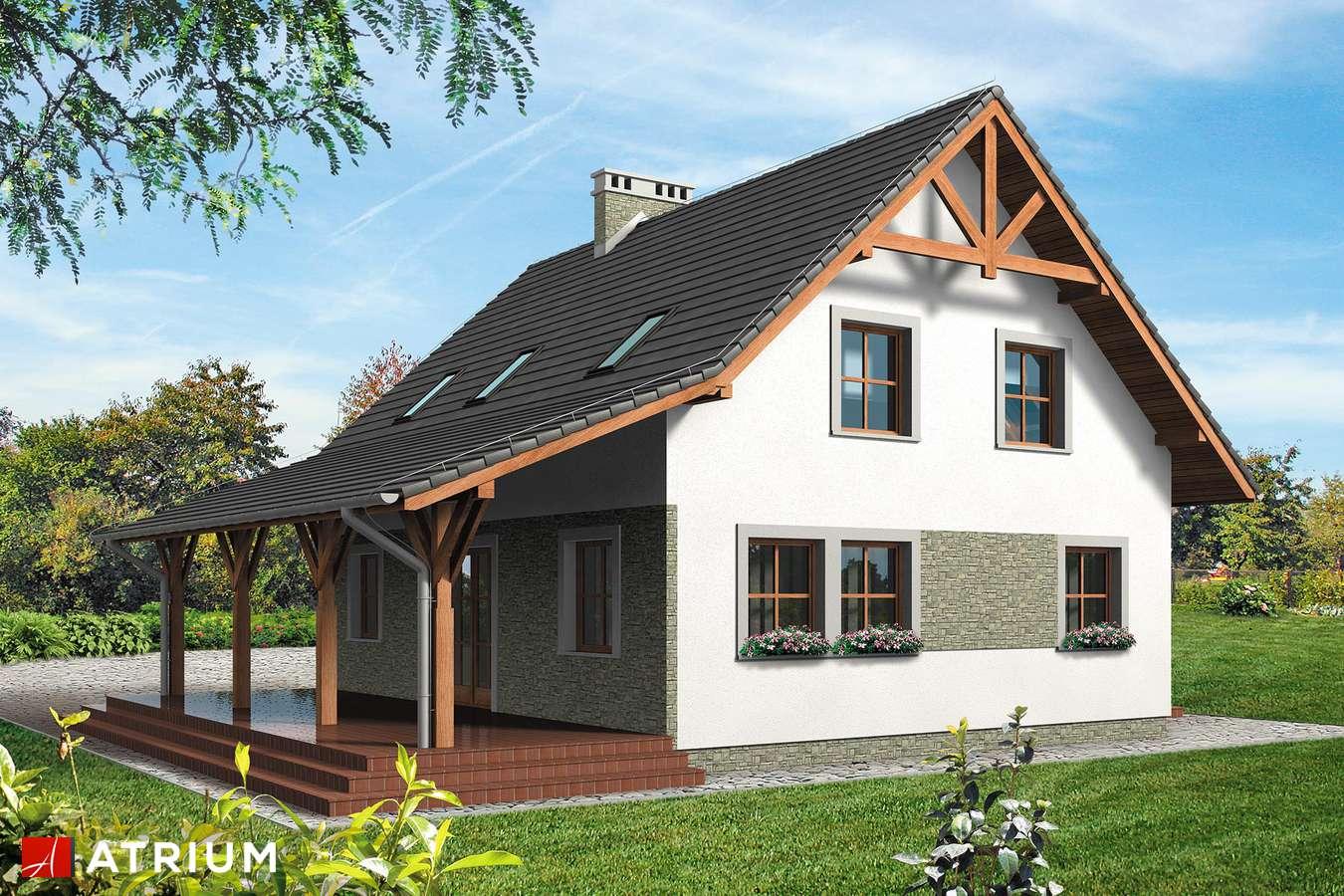 Projekty domów - Projekt domu z poddaszem KRUCZEK - wizualizacja 2