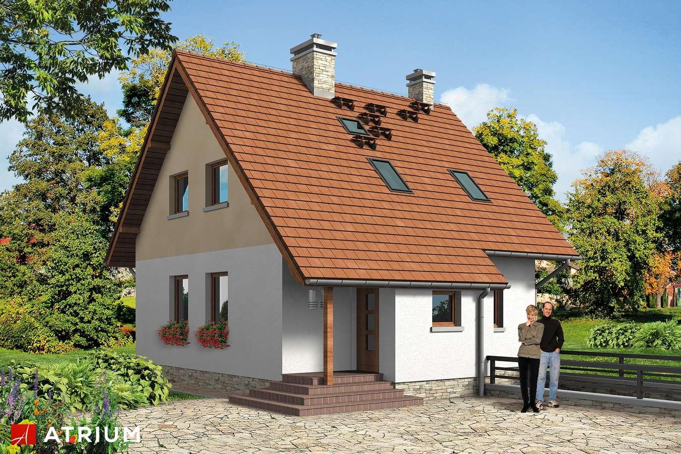 Projekt domu z poddaszem KAROLEK - wizualizacja 1