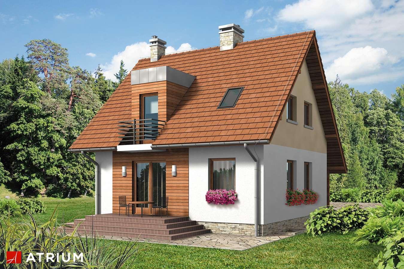 Projekt domu z poddaszem KAROLEK - wizualizacja 2
