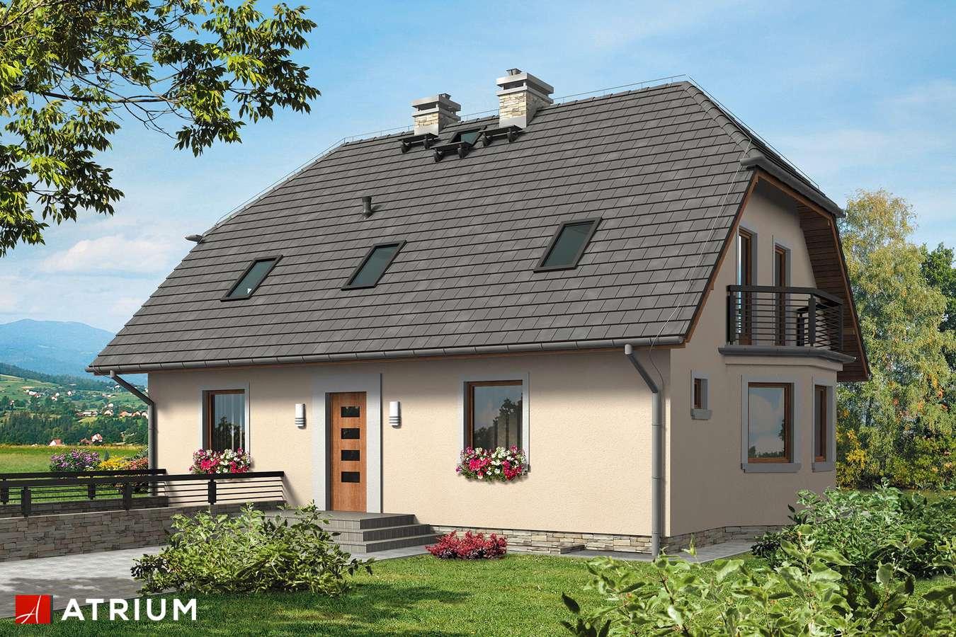 Projekt domu z poddaszem HELENKA BIS - wizualizacja 1