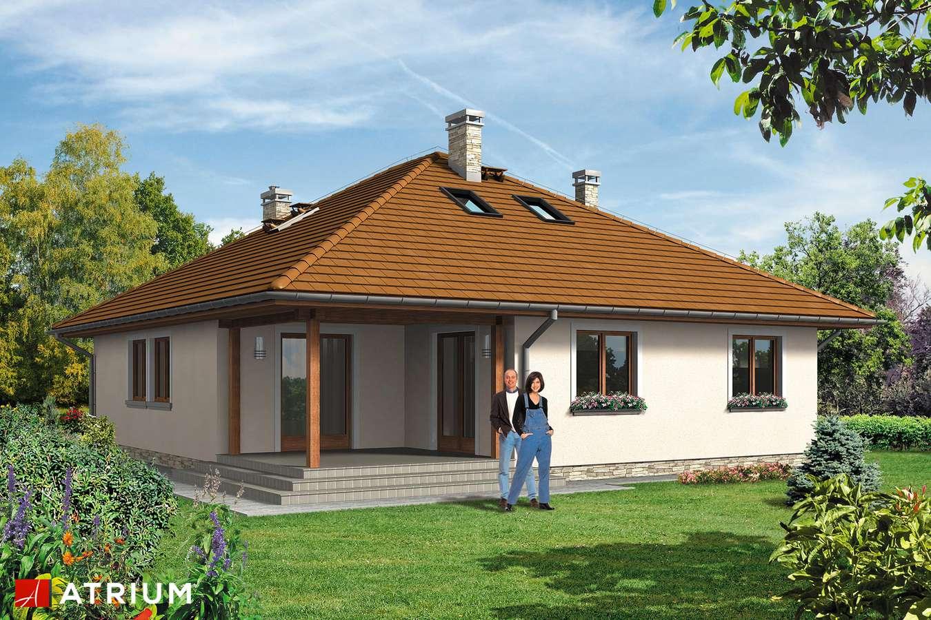 Projekty domów - Projekt domu z poddaszem FAKTOR PLUS BIS - wizualizacja 2
