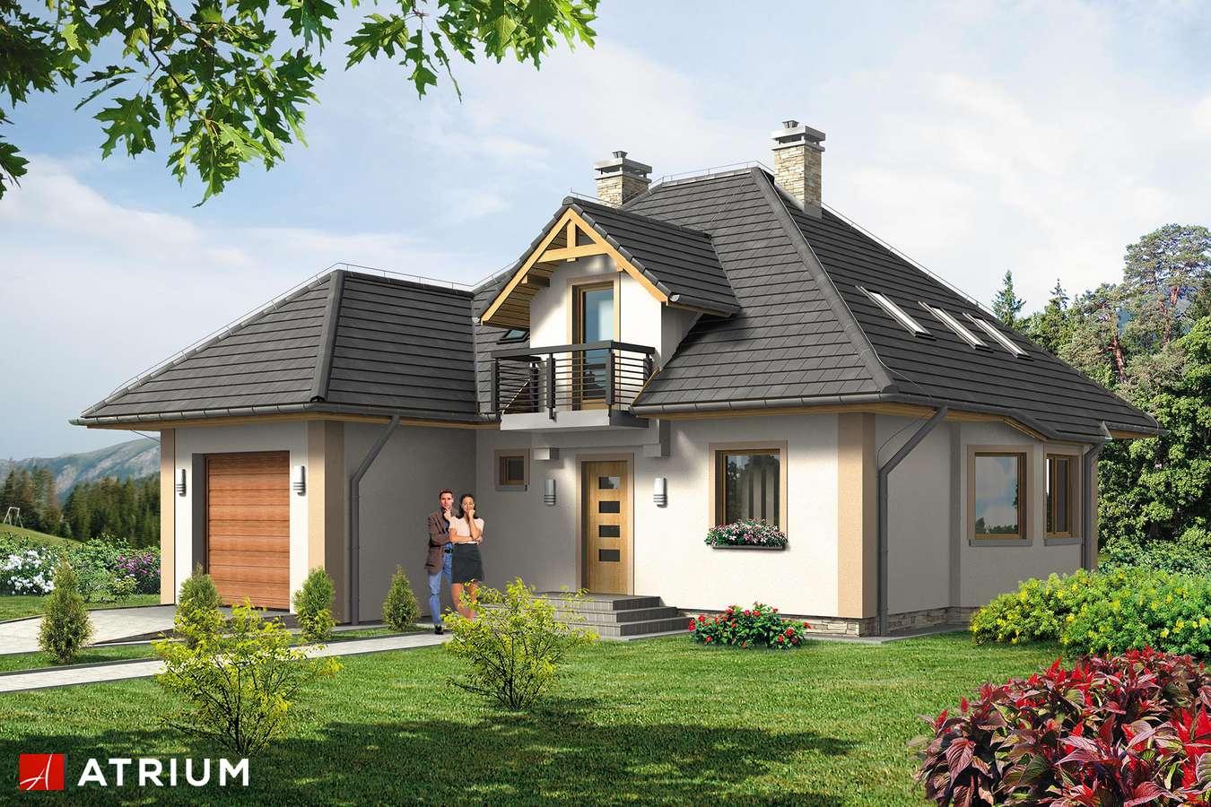 Projekty domów - Projekt domu z poddaszem WILLA JAWOR BIS - wizualizacja 1