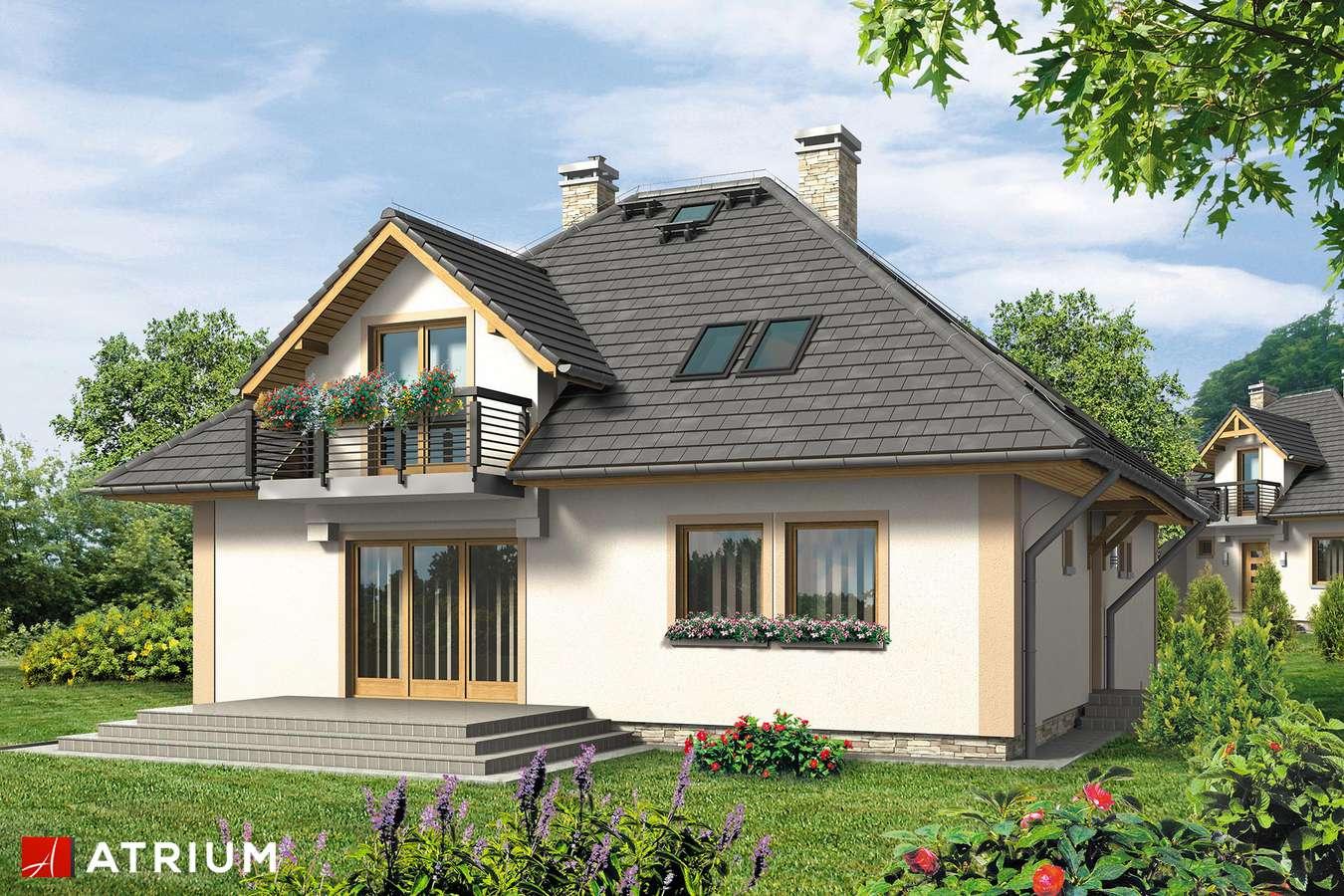 Projekty domów - Projekt domu z poddaszem WILLA JAWOR BIS - wizualizacja 2