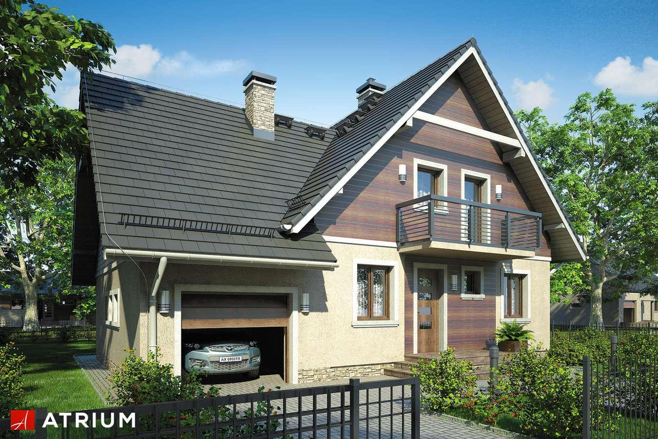 Projekty domów - Projekt domu z poddaszem MAłY MICHAł BIS - wizualizacja 1