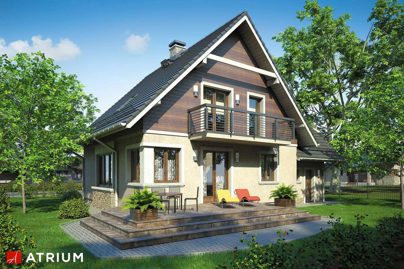 Projekty domów - Projekt domu z poddaszem MAłY MICHAł BIS - wizualizacja 2