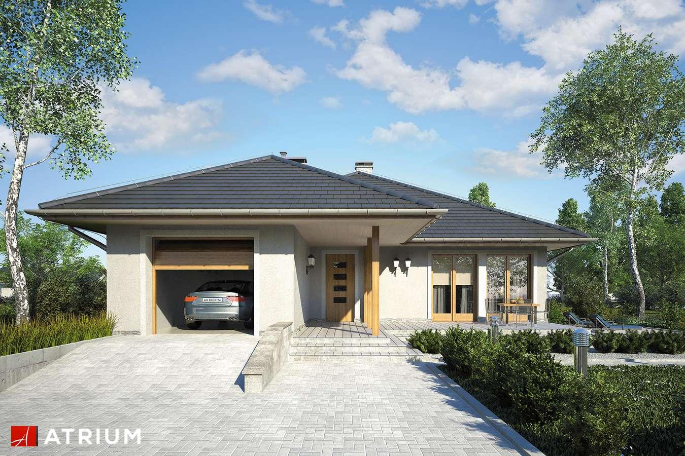 Projekty domów - Projekt domu parterowego ALABAMA - wizualizacja 1