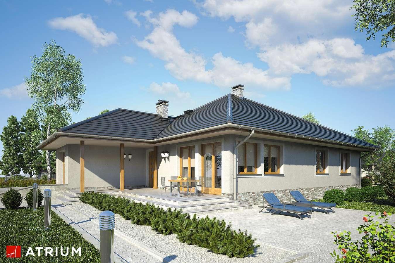 Projekty domów - Projekt domu parterowego ALABAMA - wizualizacja 2