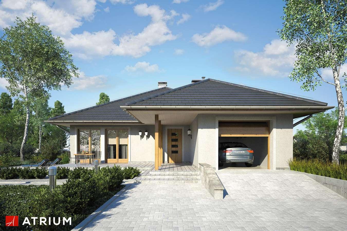 Projekty domów - Projekt domu parterowego ALABAMA - wizualizacja 1 - wersja lustrzana
