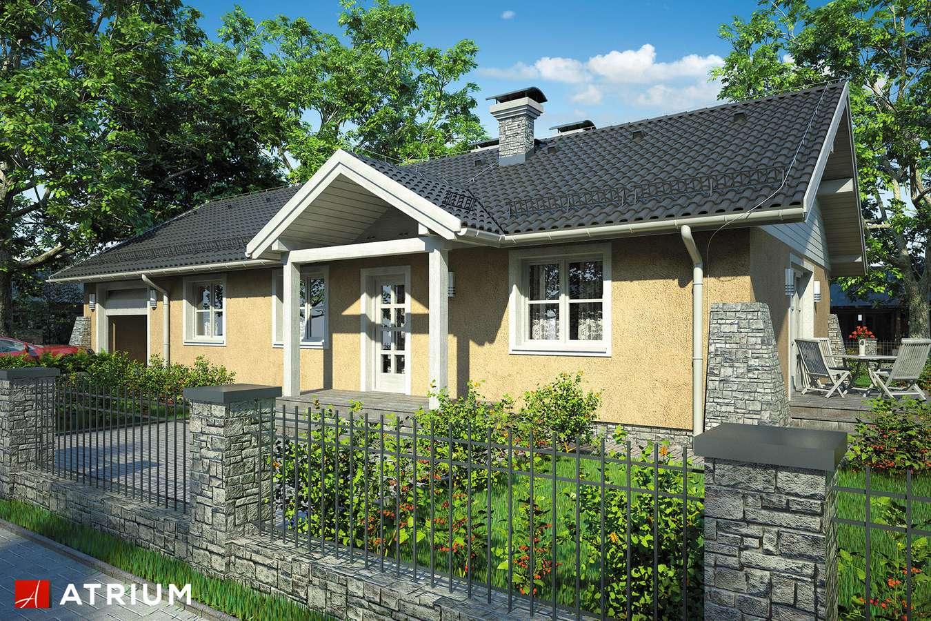 Projekty domów - Projekt domu parterowego BRZASK - wizualizacja 1