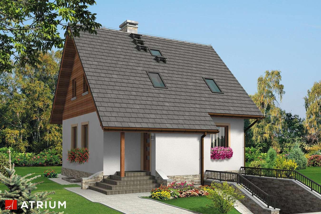 Projekt domu z poddaszem MIKOłAJEK BIS - wizualizacja 1