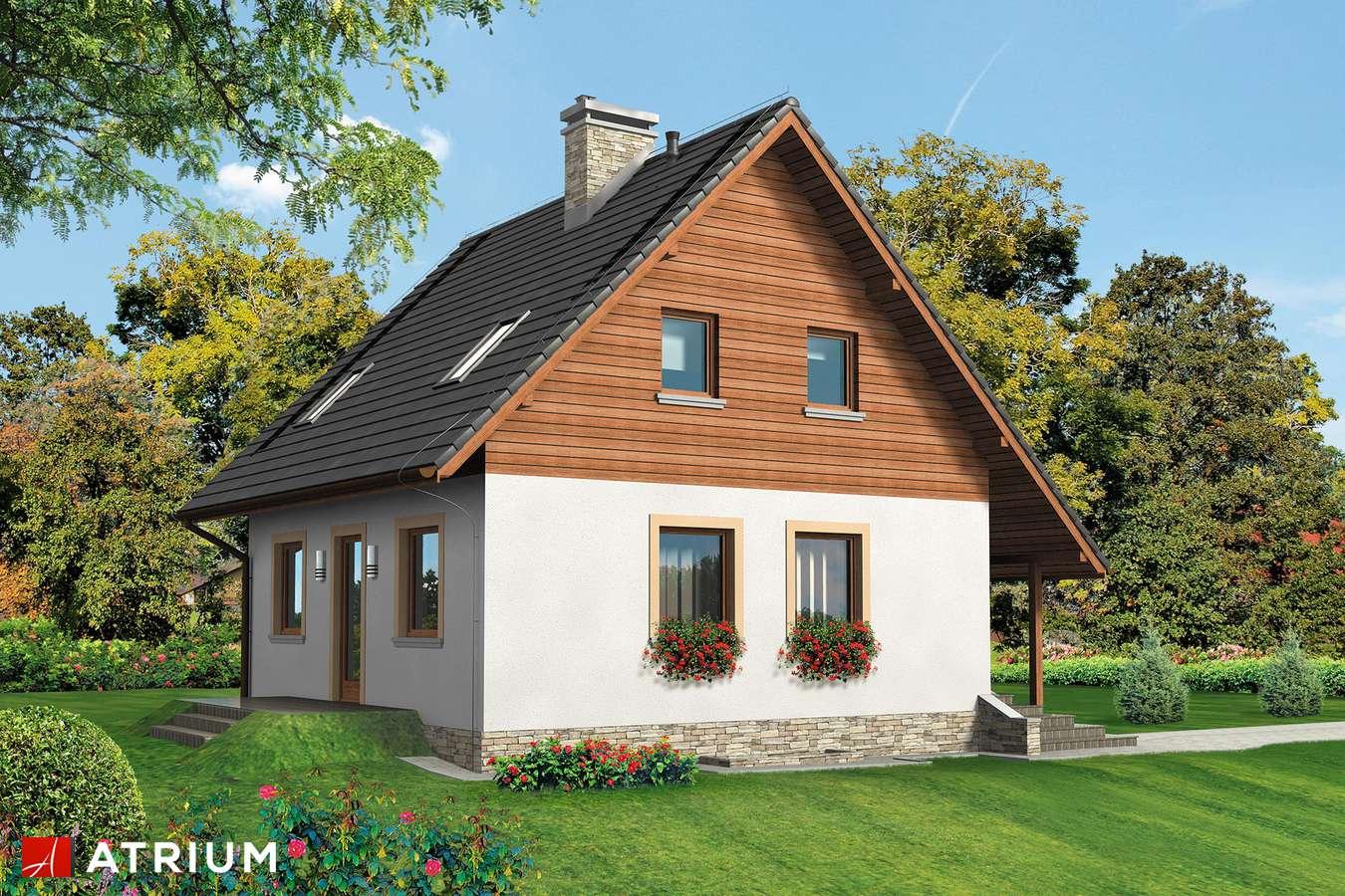 Projekt domu z poddaszem MIKOłAJEK BIS - wizualizacja 2