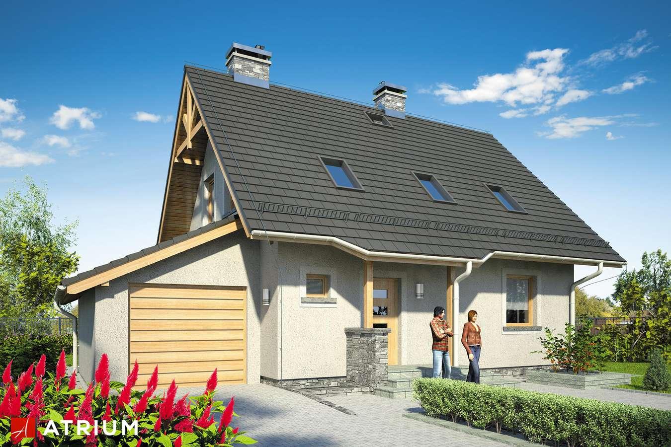 Projekty domów - Projekt domu z poddaszem ADA PLUS BIS - wizualizacja 1