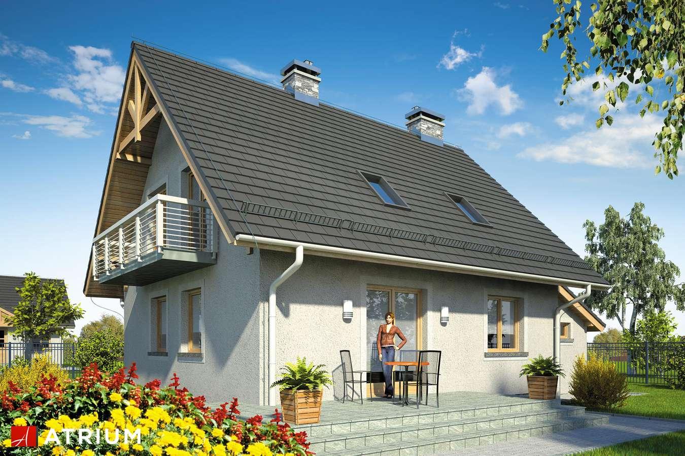 Projekty domów - Projekt domu z poddaszem ADA PLUS BIS - wizualizacja 2
