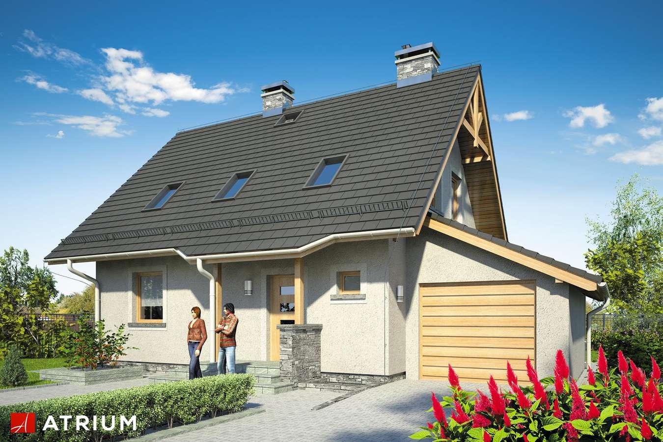 Projekty domów - Projekt domu z poddaszem ADA PLUS BIS - wizualizacja 1 - wersja lustrzana
