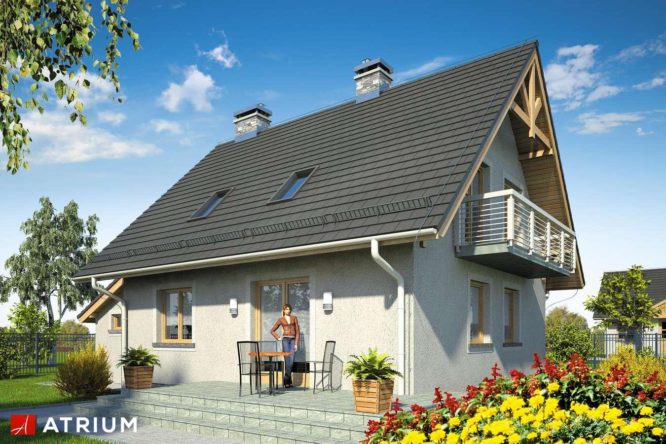 Projekty domów - Projekt domu z poddaszem ADA PLUS BIS - wizualizacja 2 - wersja lustrzana