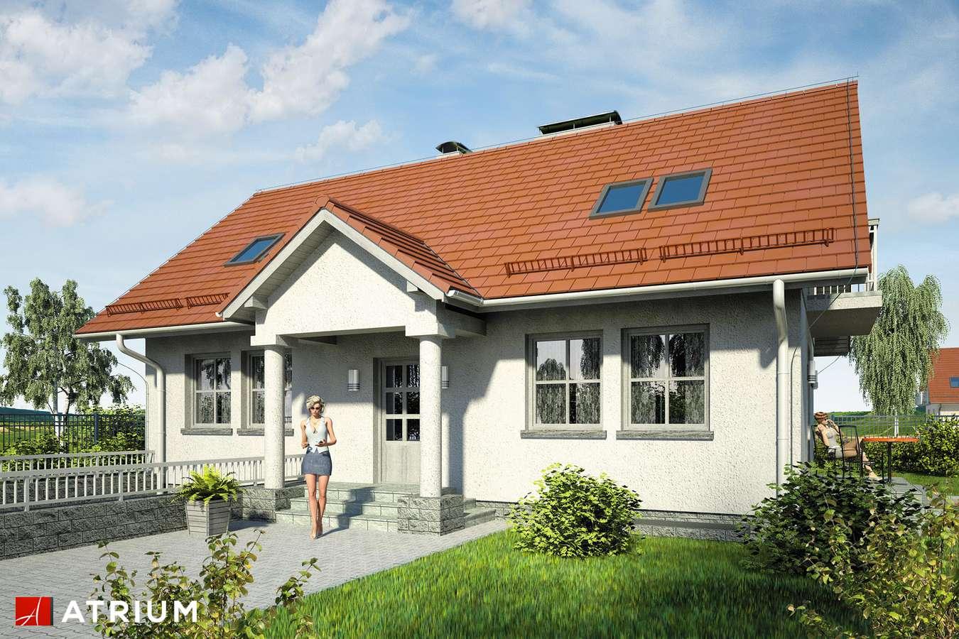 Projekty domów - Projekt domu z poddaszem JUTRZENKA II - wizualizacja 1