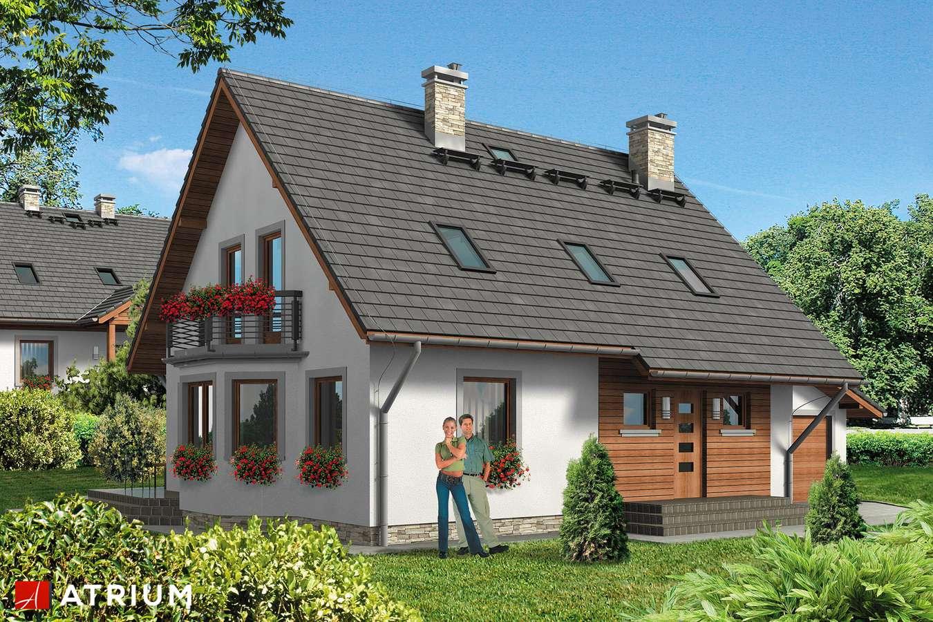 Projekty domów - Projekt domu z poddaszem TOSIEK BIS - wizualizacja 1