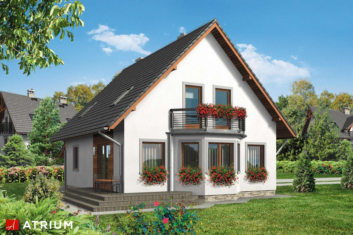 Projekty domów - Projekt domu z poddaszem TOSIEK BIS - wizualizacja 2