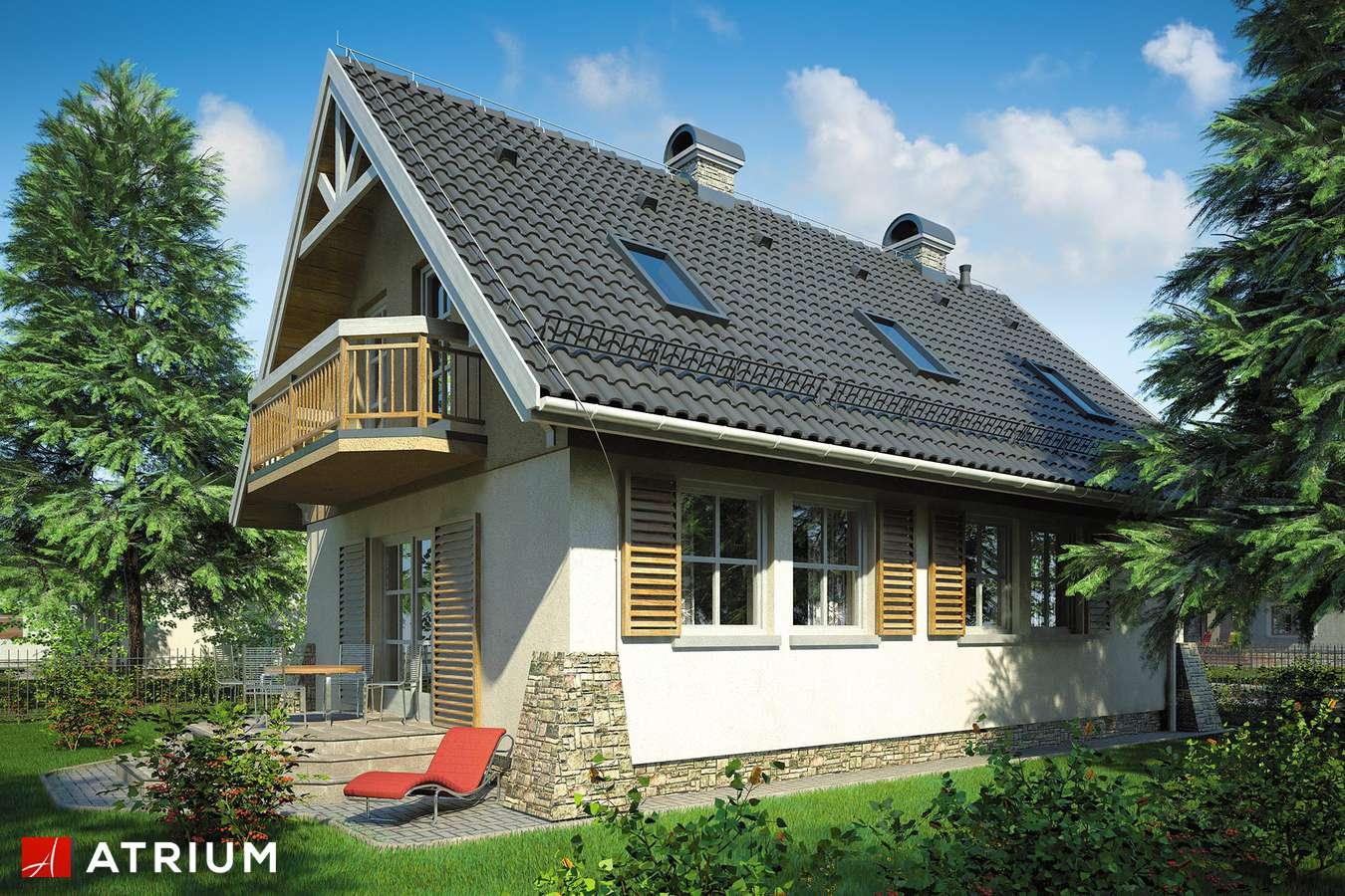 Projekt domu z poddaszem MAJA II - wizualizacja 1
