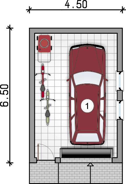 rzut parteru - Garaż Z 32