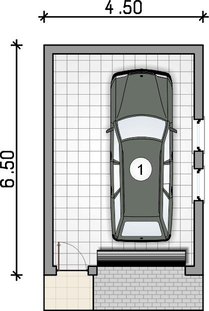 rzut garażu - Garaż Z 33