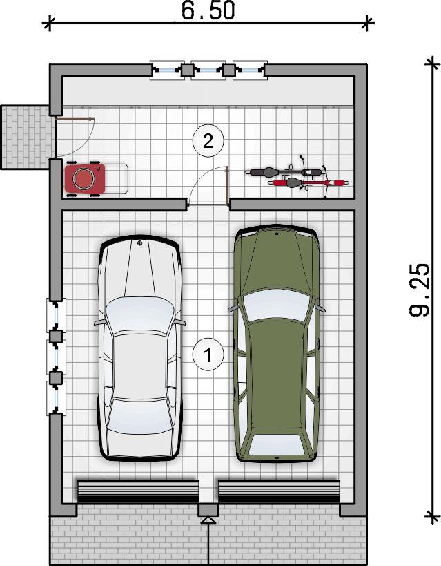 rzut parteru - Garaż Z 34
