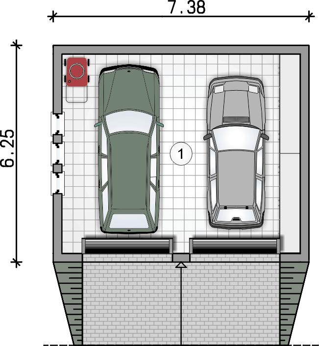 rzut parteru - Garaż Z 35