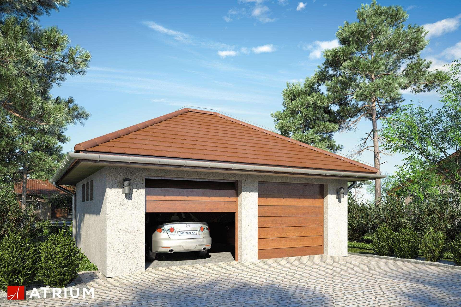 Projekt Garażu Z 35 Garaż Dwustanowiskowy Parterowy Studio Atrium