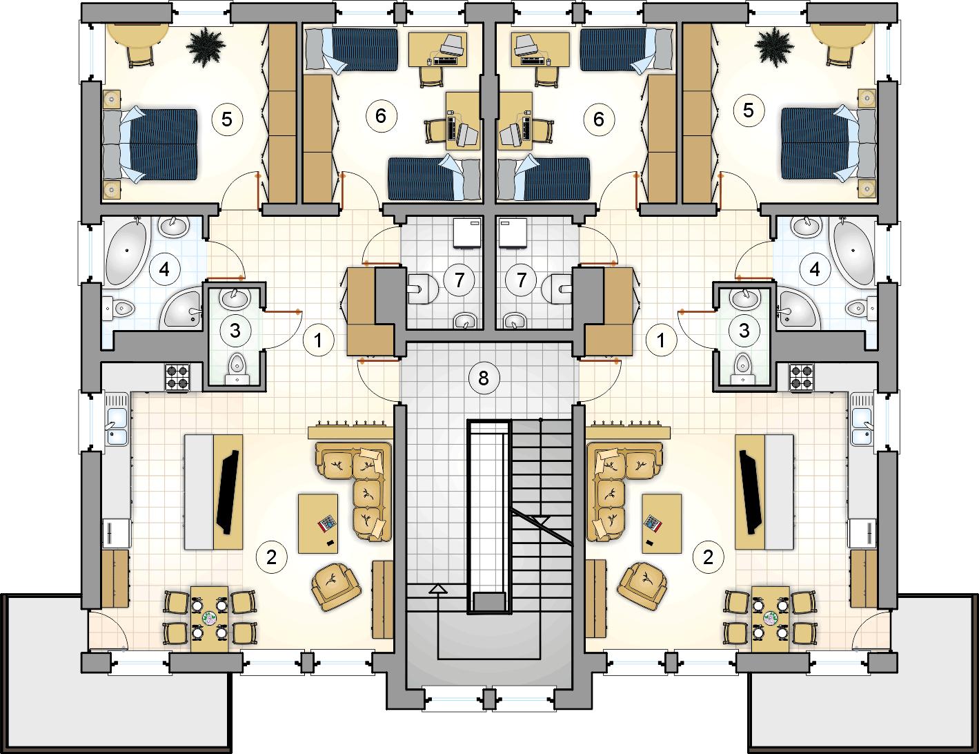 Rzut piętra - projekt Top Dom
