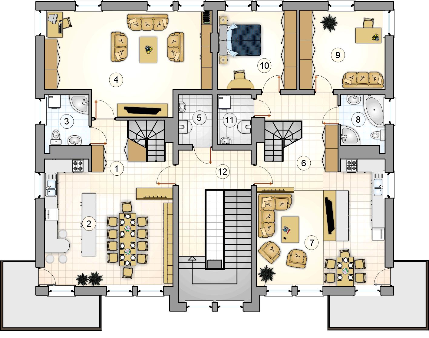 Rzut II piętra - projekt Top Dom