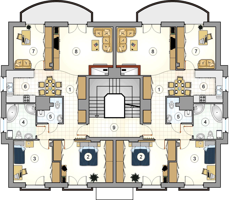Rzut piętra - projekt Octavus
