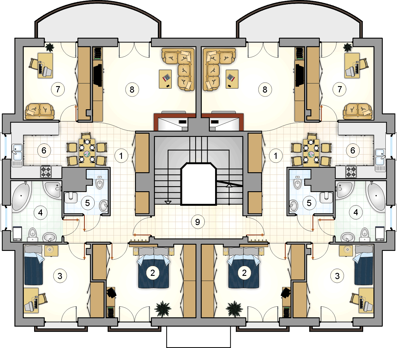 Rzut II piętra - projekt Octavus