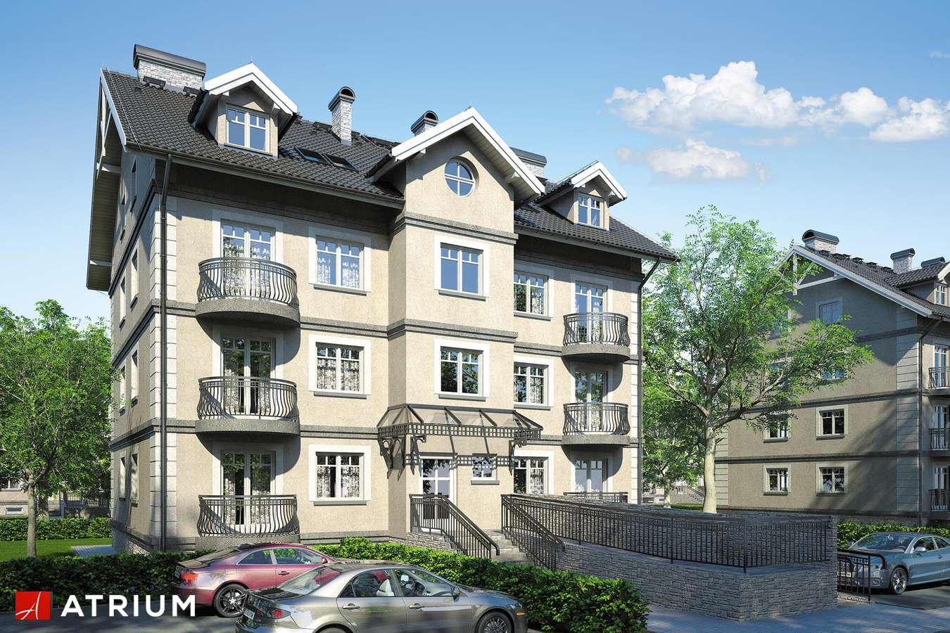 Projekty domów - Projekt domu z poddaszem DOMINIUM - wizualizacja 1