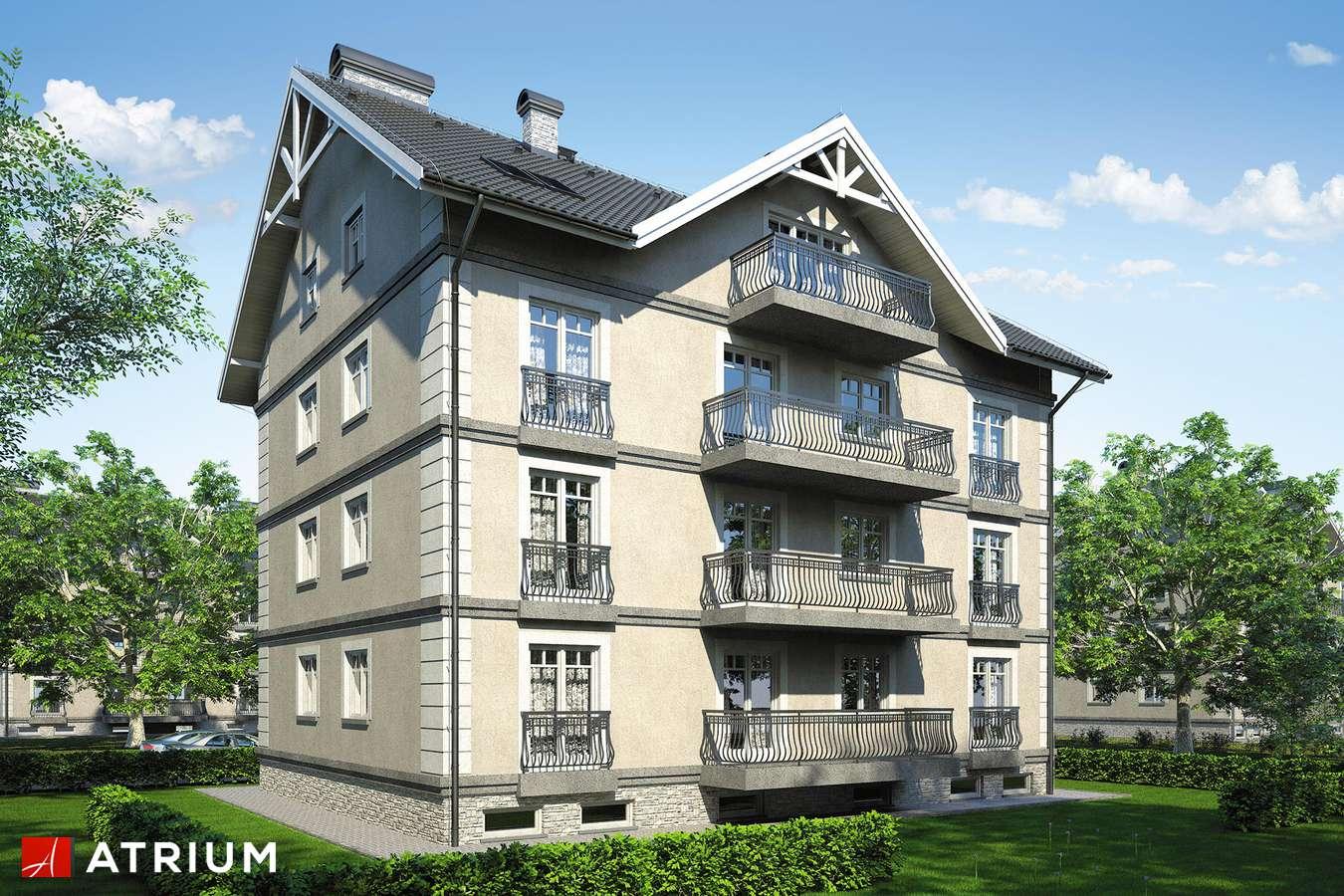 Projekty domów - Projekt domu z poddaszem DOMINIUM - wizualizacja 2