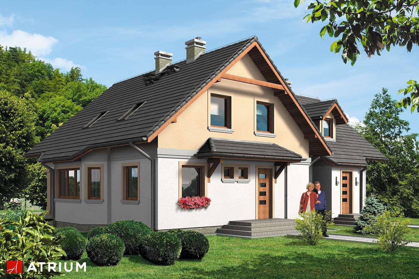 Projekty domów - Projekt domu z poddaszem NASZA RADOść BIS - wizualizacja 1