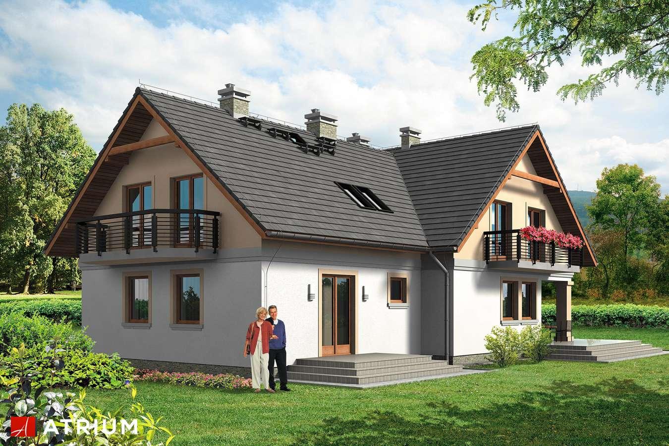 Projekty domów - Projekt domu z poddaszem NASZA RADOść BIS - wizualizacja 2