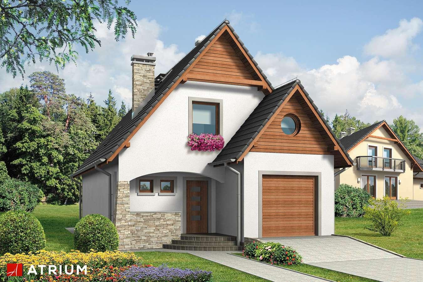 Projekty domów - Projekt domu z poddaszem JAWOR BIS - wizualizacja 1